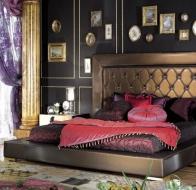 Итальянская спальня Asnaghi Interiors классическая коллекция Luxury кровать Mondrian
