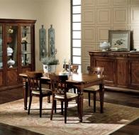 Итальянская мебель Bamax классическая коллекция Leonardo столовая