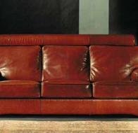 Итальянская мебель Bastex  кожаный диван Etrusco