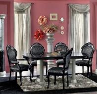Итальянская столовая Camelgroup классическая коллекция Barocco Black