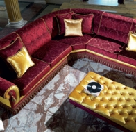 Итальянская мягкая мебель Domingo Salotti классический угловой диван Alonso