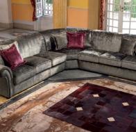 Итальянская мягкая мебель Domingo Salotti классический угловой диван Golden