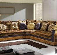 Итальянская мягкая мебель Domingo Salotti классический угловой диван Ludovica