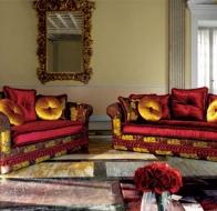Итальянская мягкая мебель Domingo Salotti классический диван Ludovica