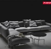 Итальянская мебель Flexform угловой диван Soft Dream