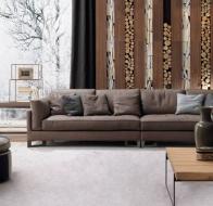 Итальянская фабрика мягкой мебели FRIGERIO диван DAVIS IN