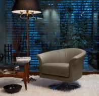 Итальянская мягкая мебель GAMMA кресло Oyster