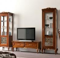 Итальянская гостиная Giorgiocasa из коллекции Memorie: 2 витрины и тумба TV
