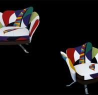 Итальянская мягкая мебель IL LOFT кресло FLOWER PATCHWORK