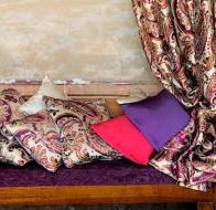 Испанский производитель ткани для штор и гардин Lizzo коллекция Paisley