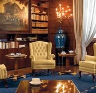 Итальянская мебель Mascheroni кожаное кресло Stoccolma