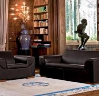 Итальянская мебель Mascheroni кожаный диван Deco