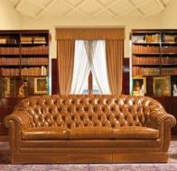 Итальянская мебель Mascheroni кожаный диван Glasgow