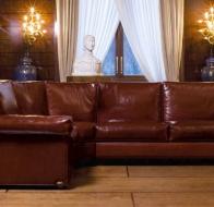 Итальянская мебель Mascheroni кожаный диван Karisma