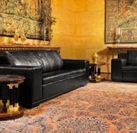 Итальянская мебель Mascheroni кожаный диван Kube