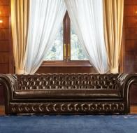 Итальянская мебель Mascheroni кожаный диван Royal