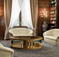 Итальянская мебель Mascheroni кожаный диван Serenissima