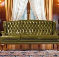 Итальянская мебель Mascheroni кожаный диван Stoccolma