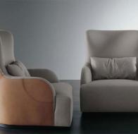 Итальянская мягкая мебель MERIDIANI кресло LIU KUOIO