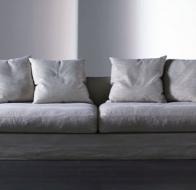 Итальянская мягкая мебель MERIDIANI диван KEATON GHOST