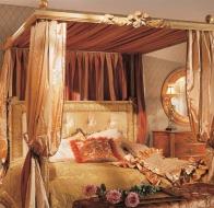 Итальянская мебель для спальни Provasi кровать Baldacchino