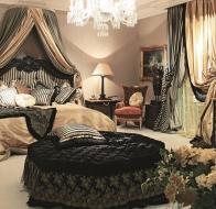 Итальянская мебель для спальни Provasi кровать Coco Lacc Nero