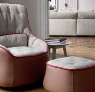 Итальянская мягкая мебель SWAN ITALIA коллекция PALOMBA кресло CIPREA