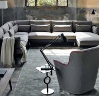 Итальянская мягкая мебель SWAN ITALIA коллекция PALOMBA  угловой диван KONG