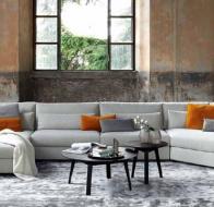 Итальянская мягкая мебель SWAN ITALIA коллекция PALOMBA  угловой диван SHAN