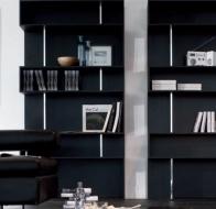 Итальянская мебель  Tonin Casa современная гостиная стеллаж Baxia