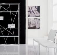 Итальянская мебель  Tonin Casa современная гостиная стеллаж Naviglio