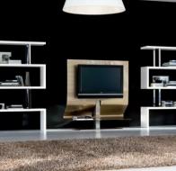 Итальянская мебель  Tonin Casa современная гостиная стеллаж Trafalgar