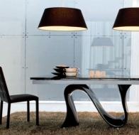 Итальянская мебель  Tonin Casa современные столы и стулья Wave