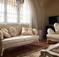 Итальянская мягкая мебель VOLPI диван и кресло Capri